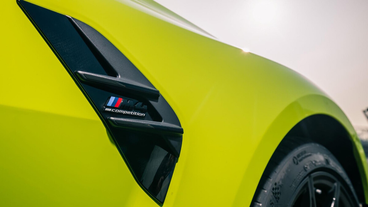 The BMW M4 Competition Side Vents