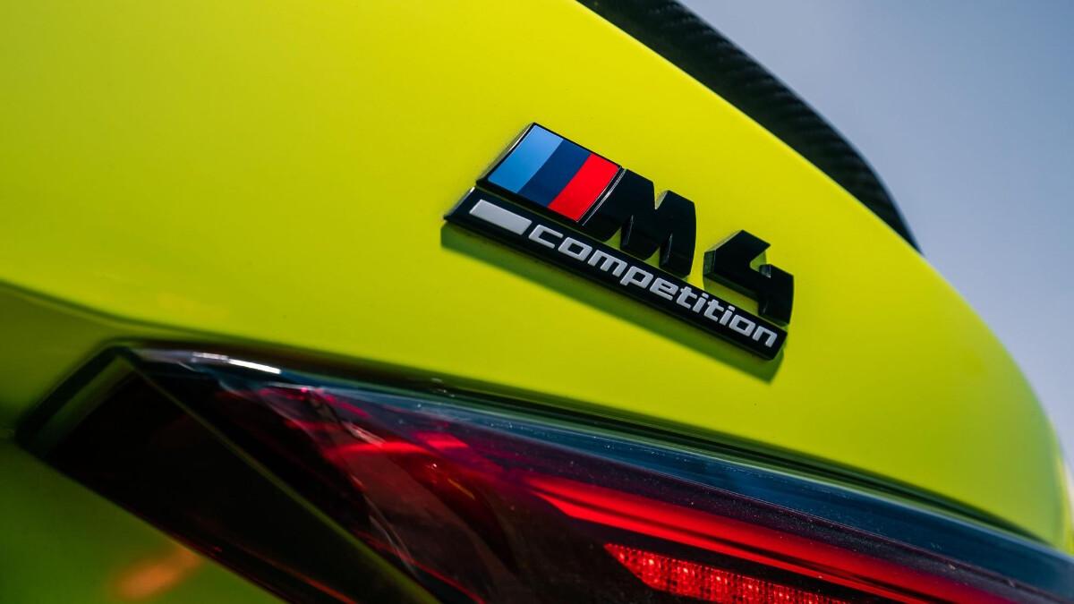 The BMW M4 Competition Rear Emblem