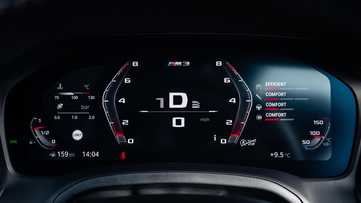 The BMW M4 Competition Odometer