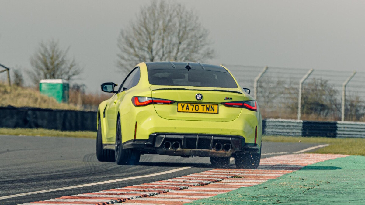 The BMW M4 Competition Rear View