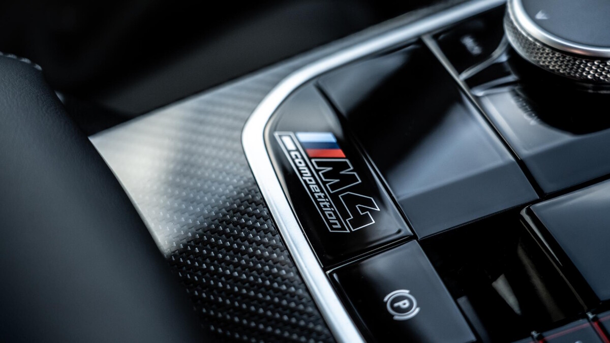 The BMW M4 Competition dashboard controls