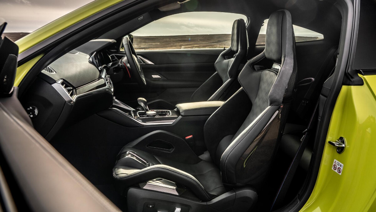 The BMW M4 Competition Front Passenger Seats