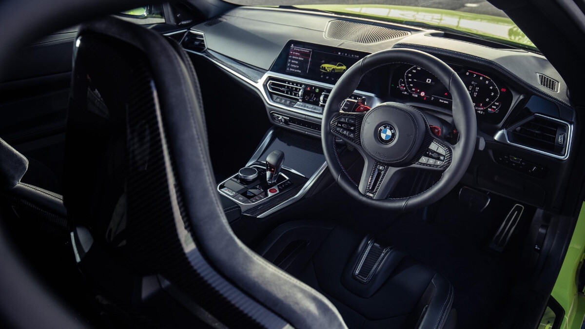 The BMW M4 Competition Steering Wheel