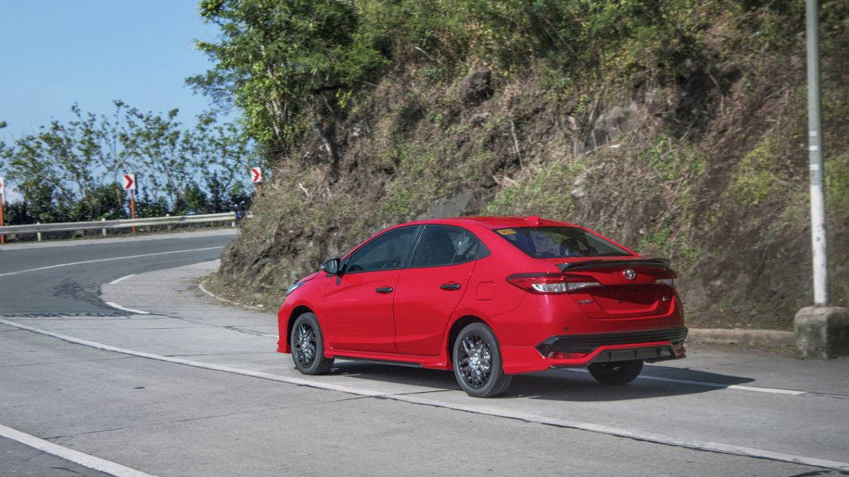 Toyota Vios GR-S Angled Rear View