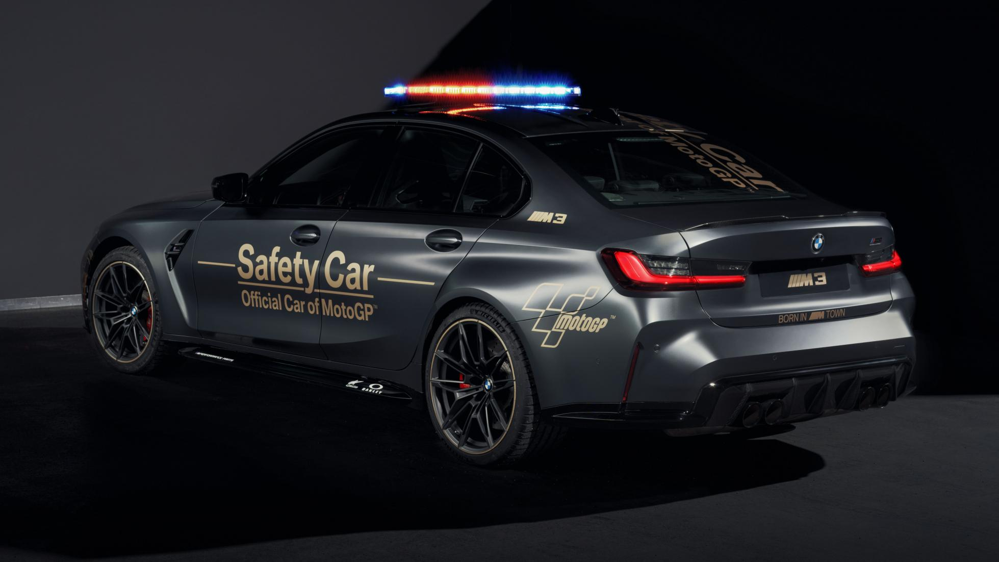 The BMW M3 as a MotoGP safety car, rear alternative angle