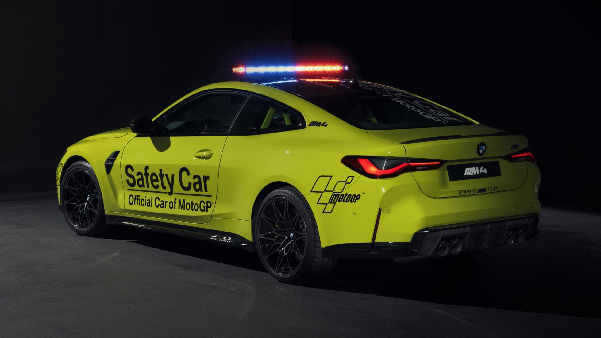 The BMW M4 as a MotoGP safety car, alternative rear view