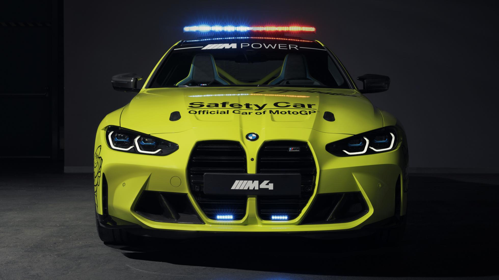 The BMW M4 as a MotoGP safety car