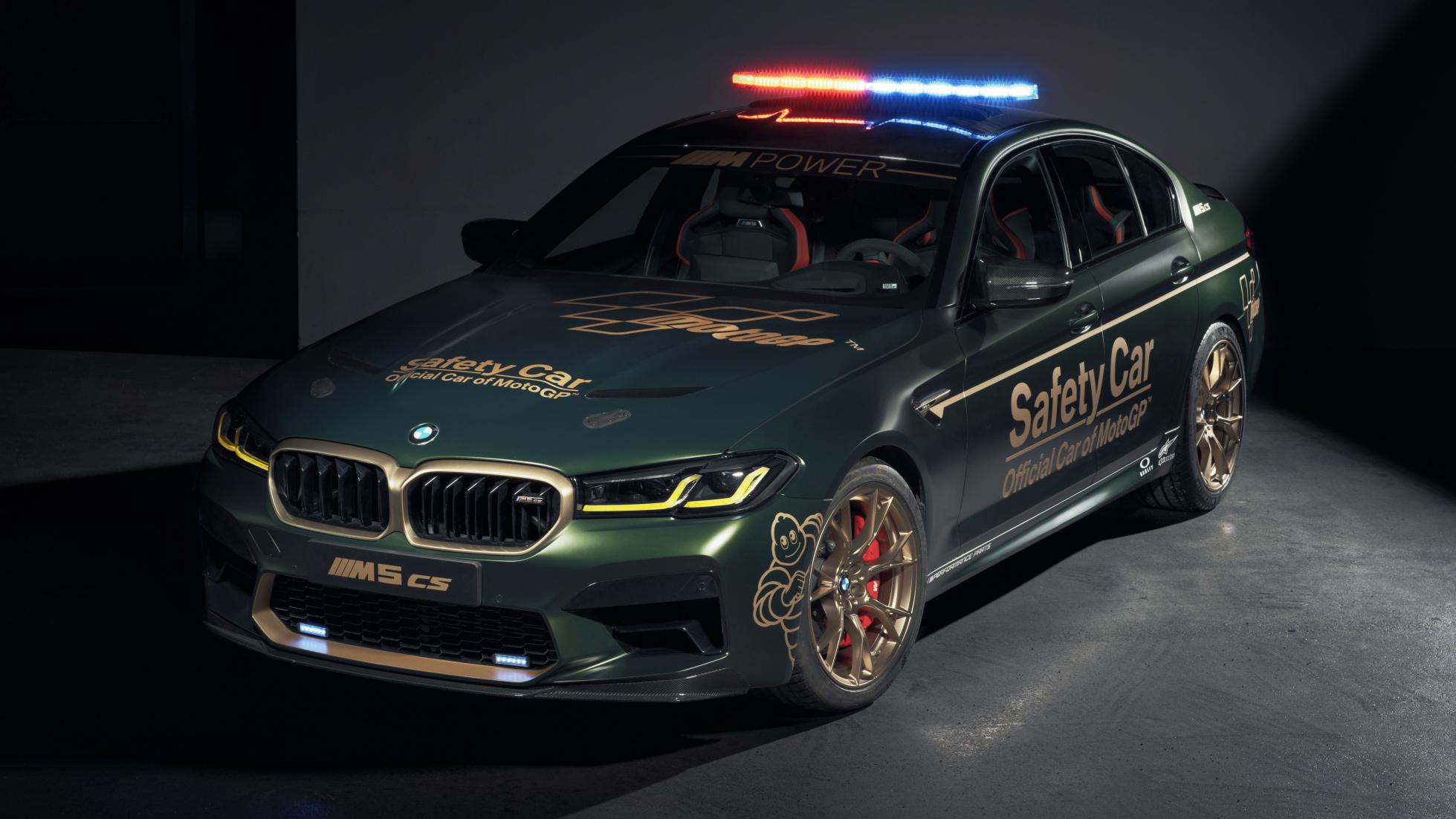 The BMW M5 as a MotoGP safety car, alternative front view