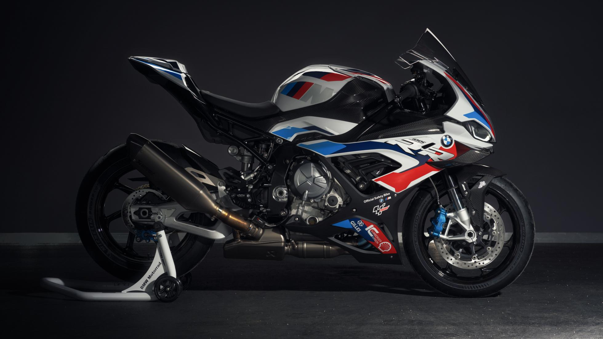 The BMW 1000 RR Bike with MotoGP Livery, in Profile