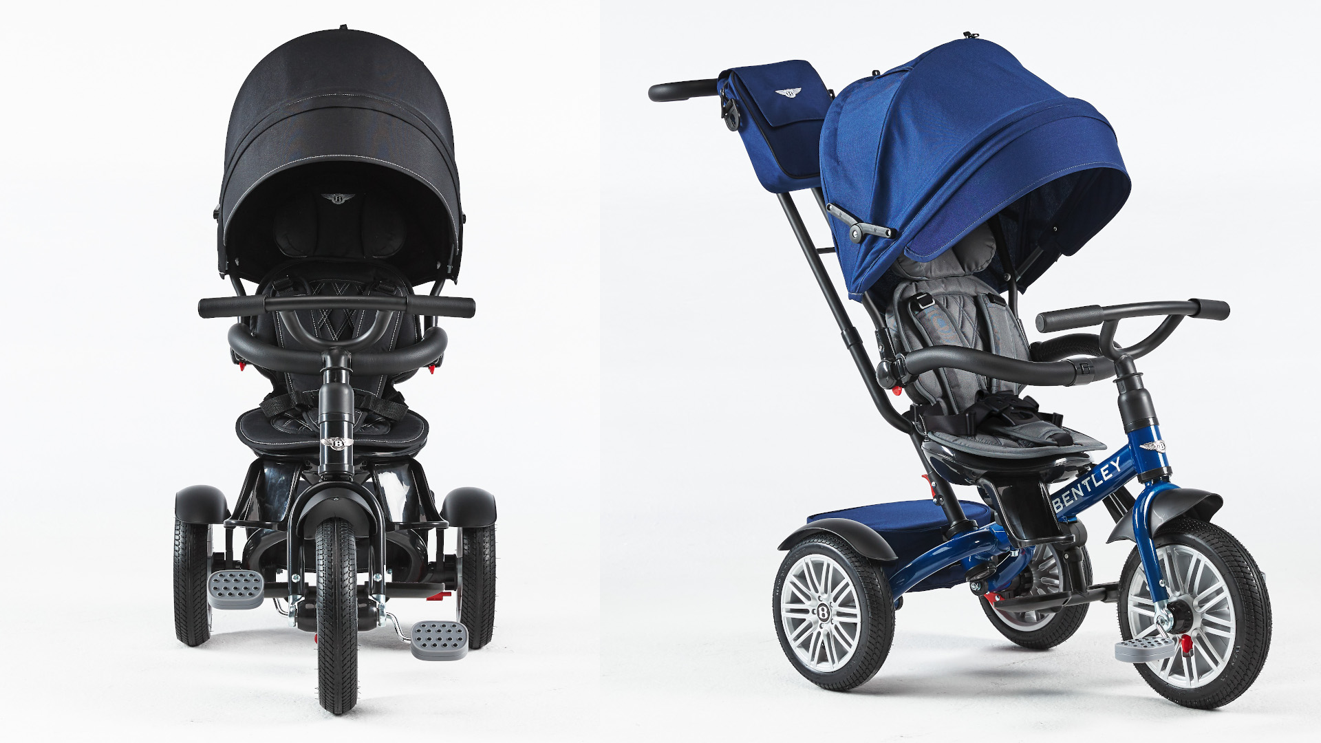 The Bentley Trike in Black and Blue