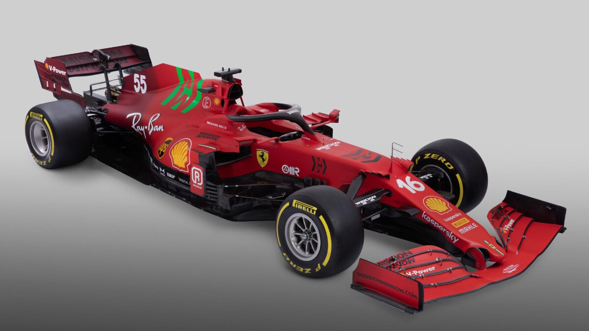 The Ferrari SF21 Alternative Front View