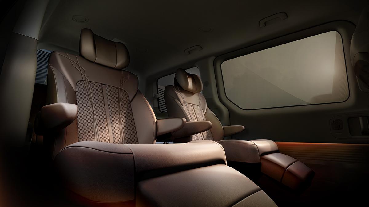 The Hyundai Staria Rear Passenger Seat