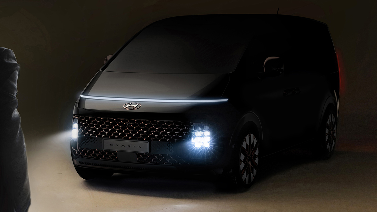 The Hyundai Staria Angled Front View