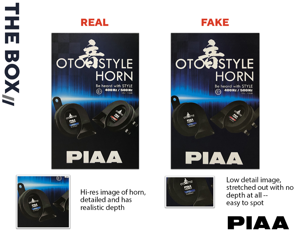 PIAA Advisory: Difference Between Product Boxes