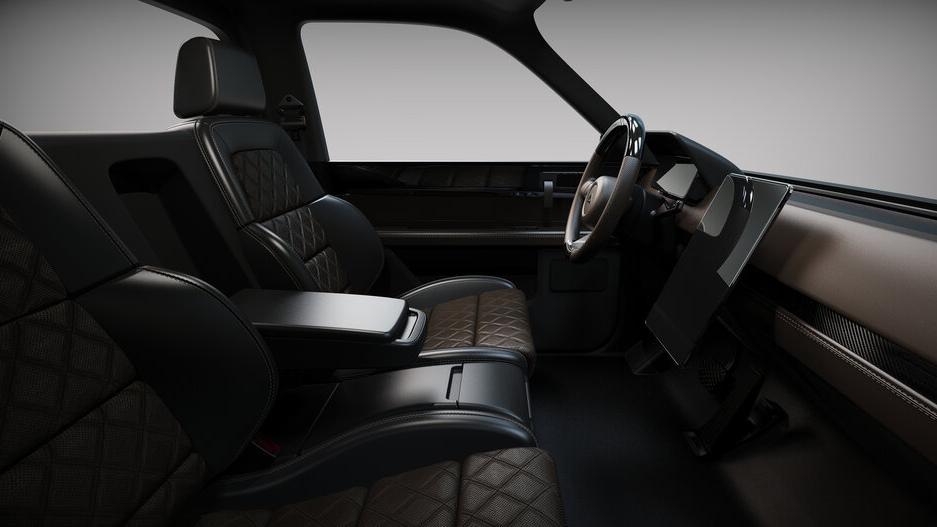 The Alpha Motor Corporation Wolf Model Interior Front Passenger Seats