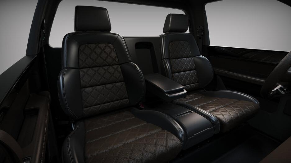 The Alpha Motor Corporation Wolf Model Rear Passenger Seats