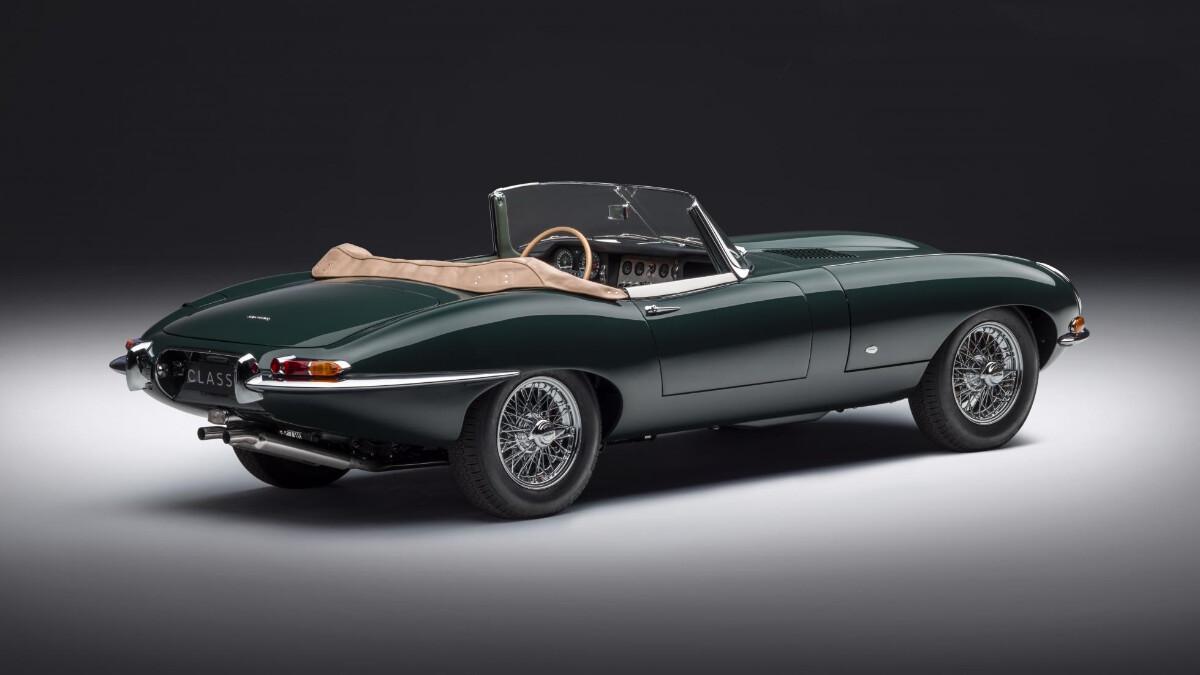 The Jaguar E-Type Convertible Alternative Rear View