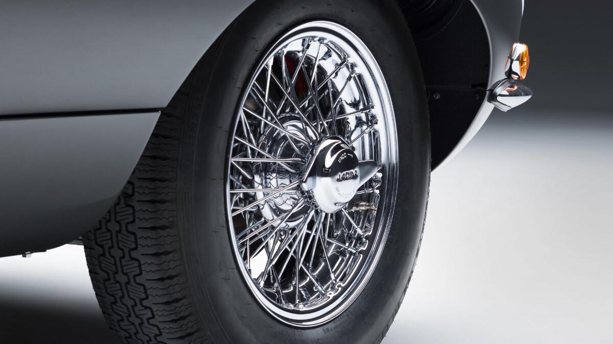 The Jaguar E-Type Tire Close Up
