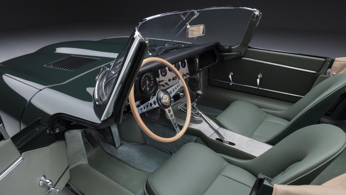The Jaguar E-Type Convertible Front Passenger Seats