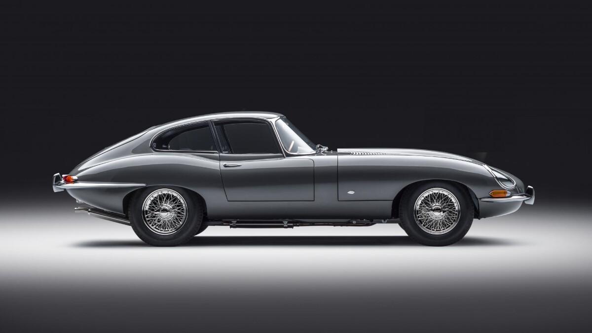 The Jaguar E-Type Profile View