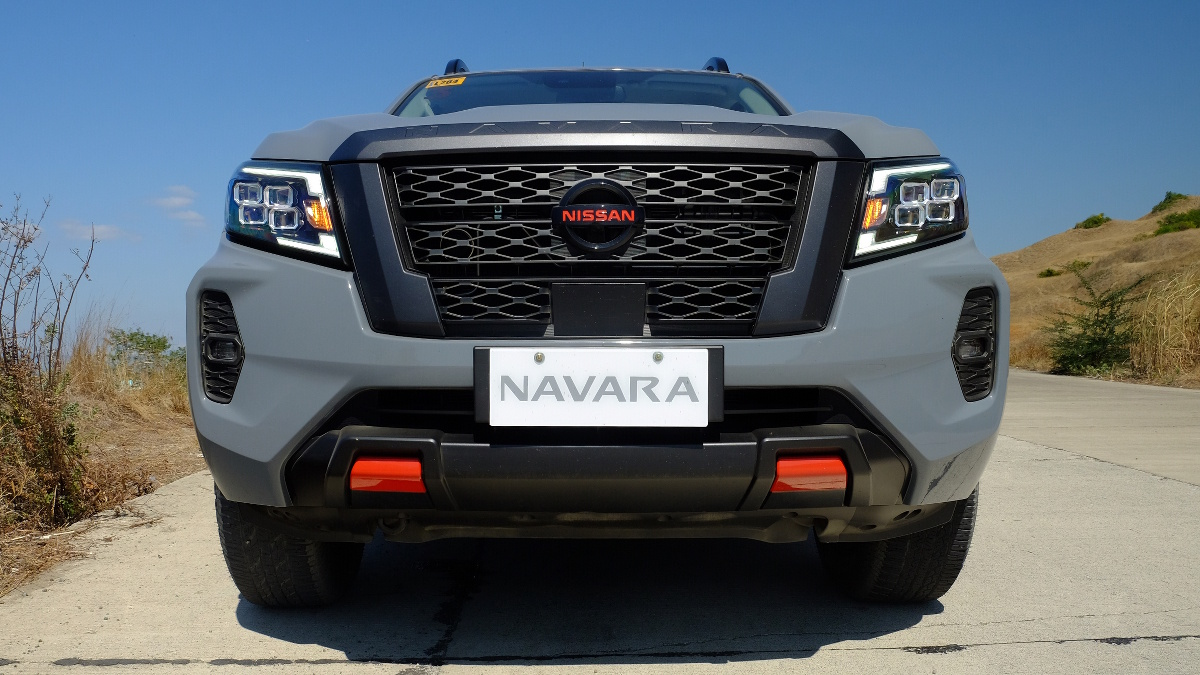 The Nissan Navara Pro-4X Low Angle Front View
