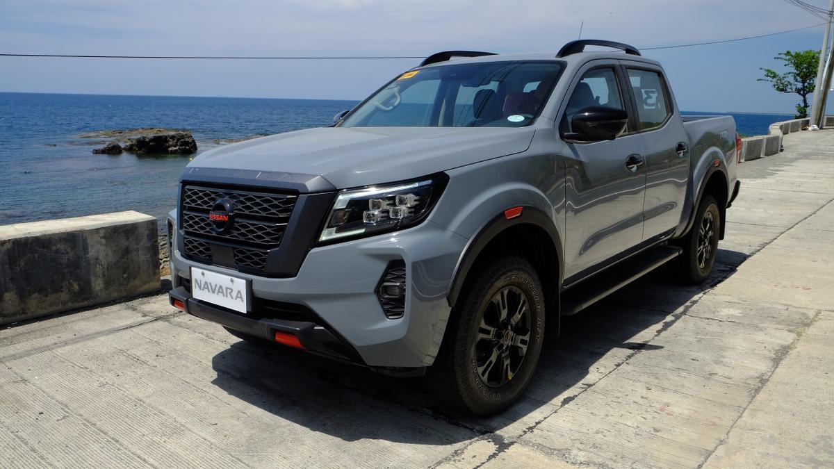 The 2021 Nissan Navara Parked Near the Sea