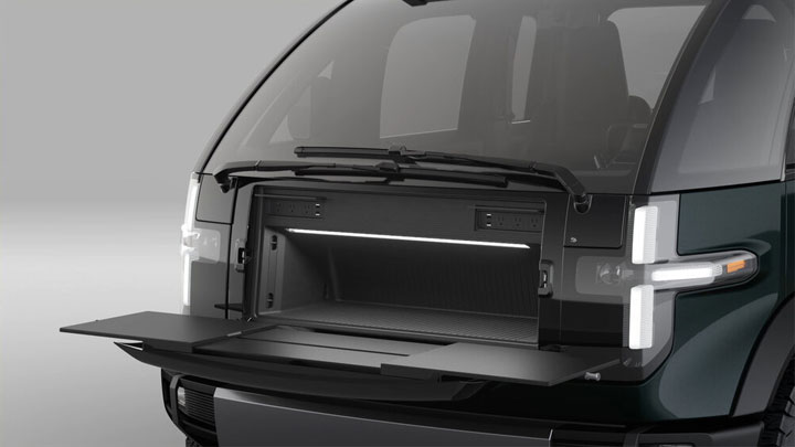 The Canoo Electric Pickup Concept Front Trunk