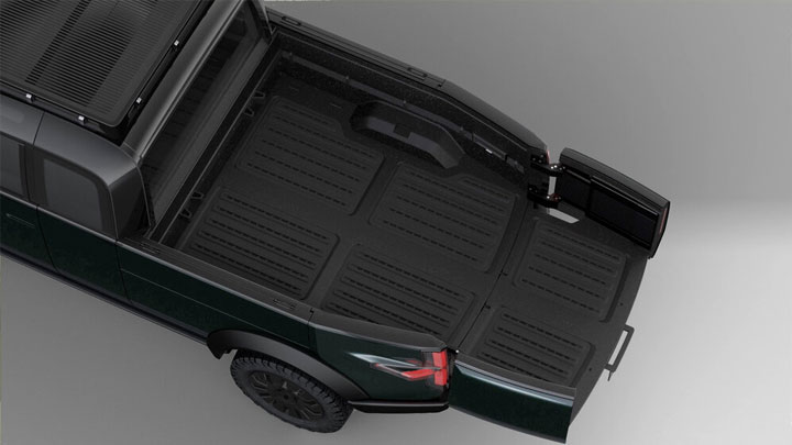The Canoo Electric Pickup Concept Extemded Cargo Bed