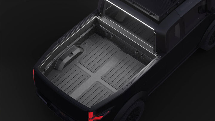 The Canoo Electric Pickup Concept Cargo Bed