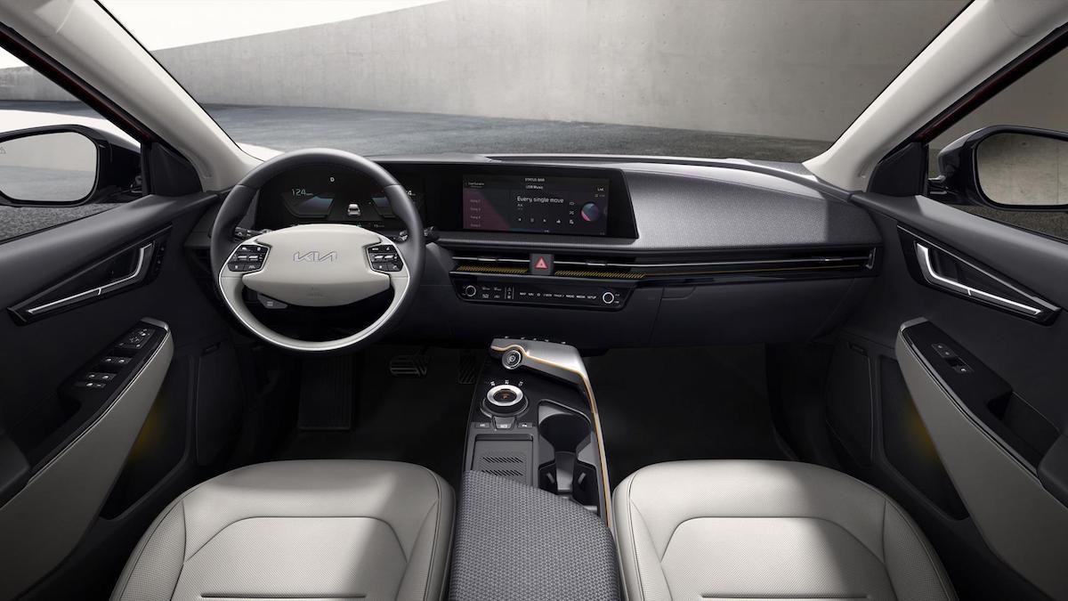 The Kia EV6 dashboard interior