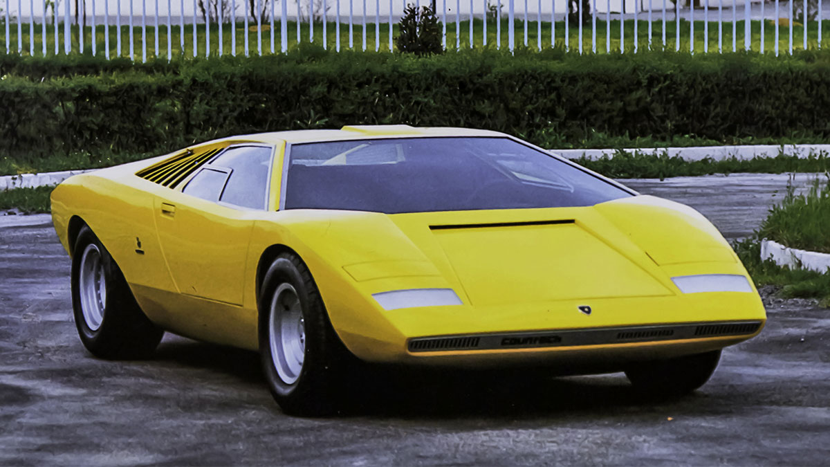The Lamborghini Countach LP500 alternative front view