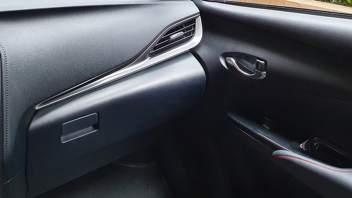 The Toyota Vios GR-S Passenger Side Dashboard