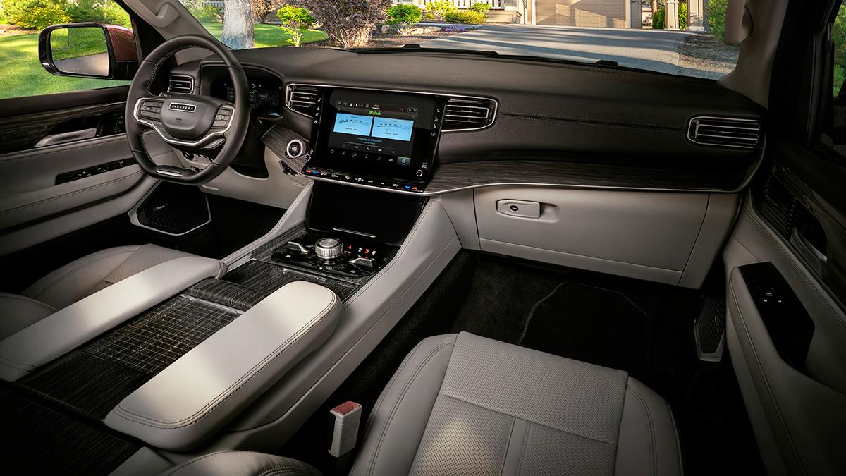 The Jeep Wagoneer interior dashboard