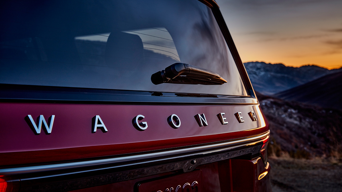The Jeep Wagoneer rear detail