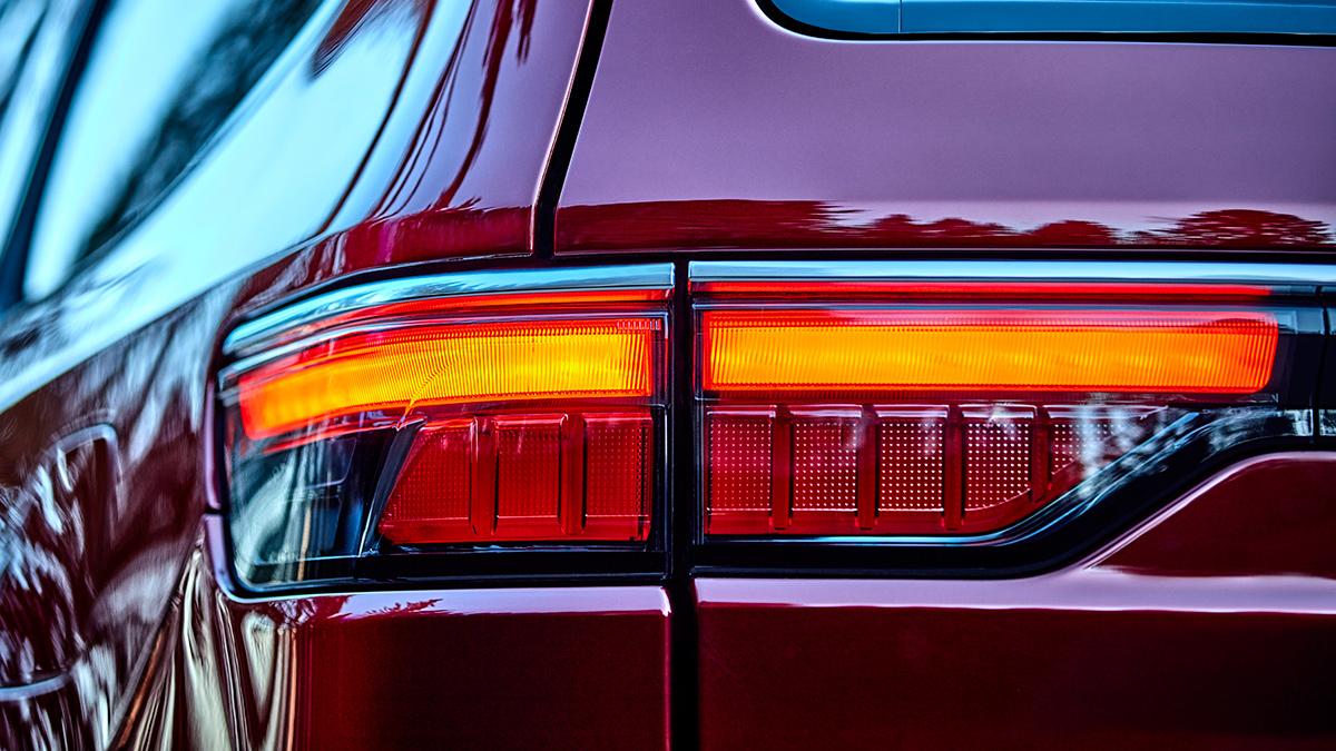 The Jeep Wagoneer tail light