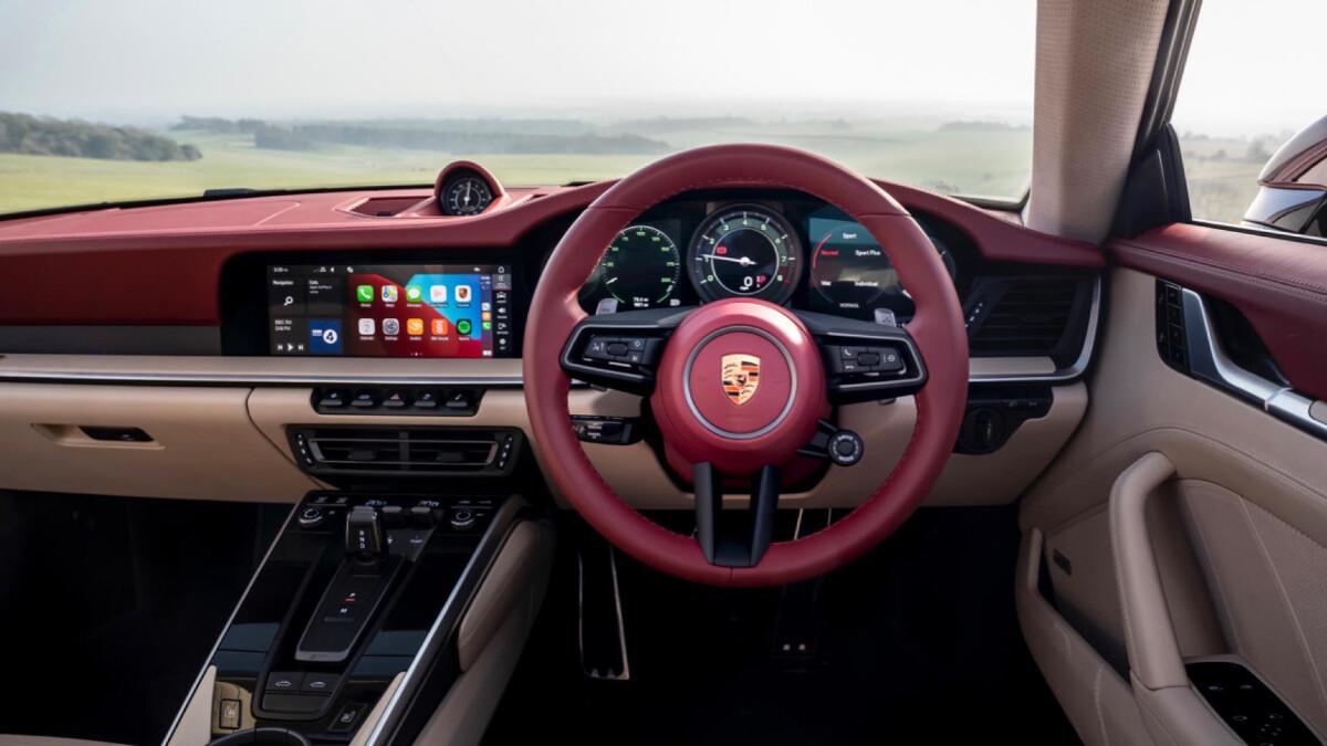 The Porsche 911 Targa 4S Steering Wheel & Dashboard