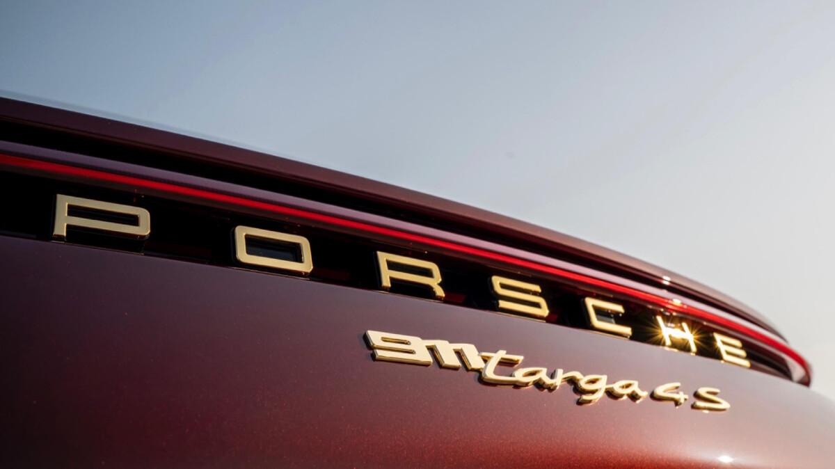 The Porsche 911 Targa 4S Rear Emblem