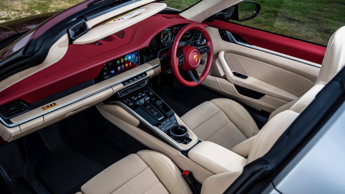 The Porsche 911 Targa 4S Angled Top View of the Interior
