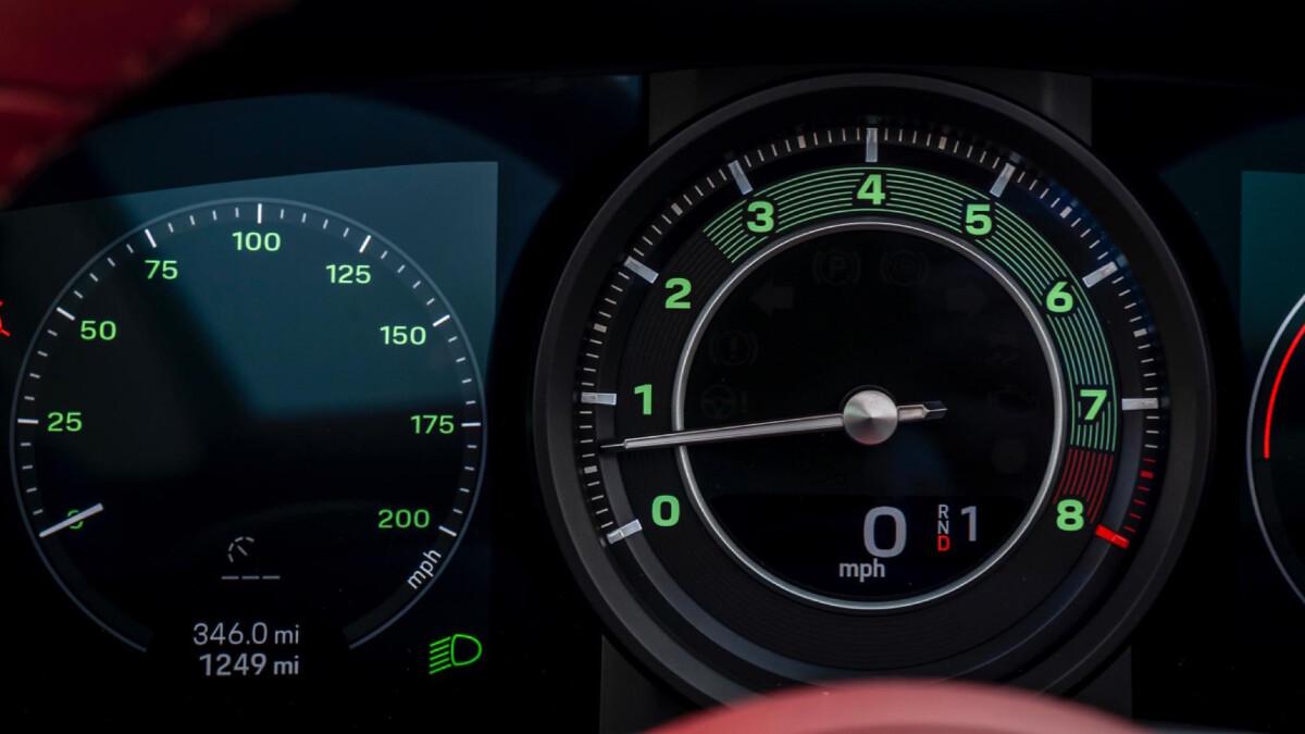 The Porsche 911 Targa 4S Odometer