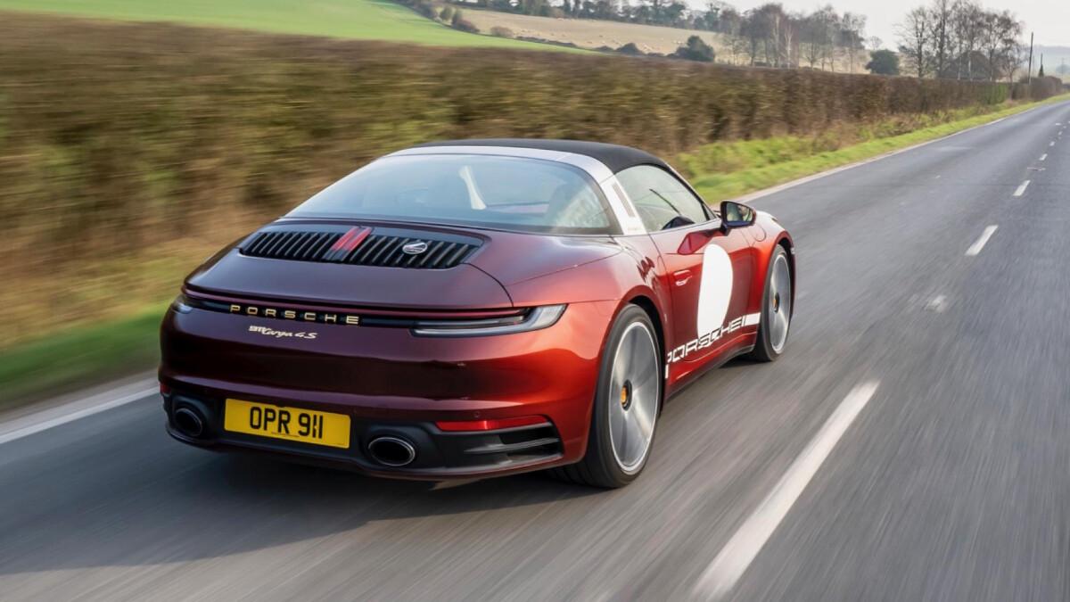 The Porsche 911 Targa 4S on the Road