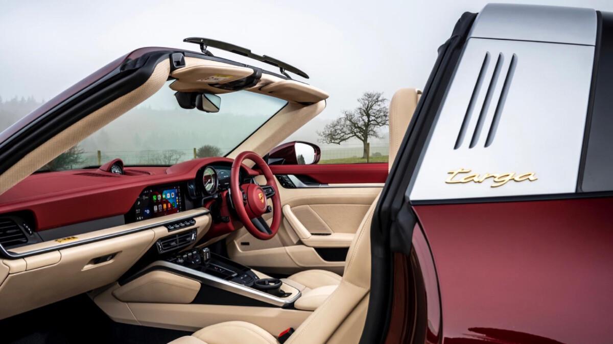 The Porsche 911 Targa 4S Interior