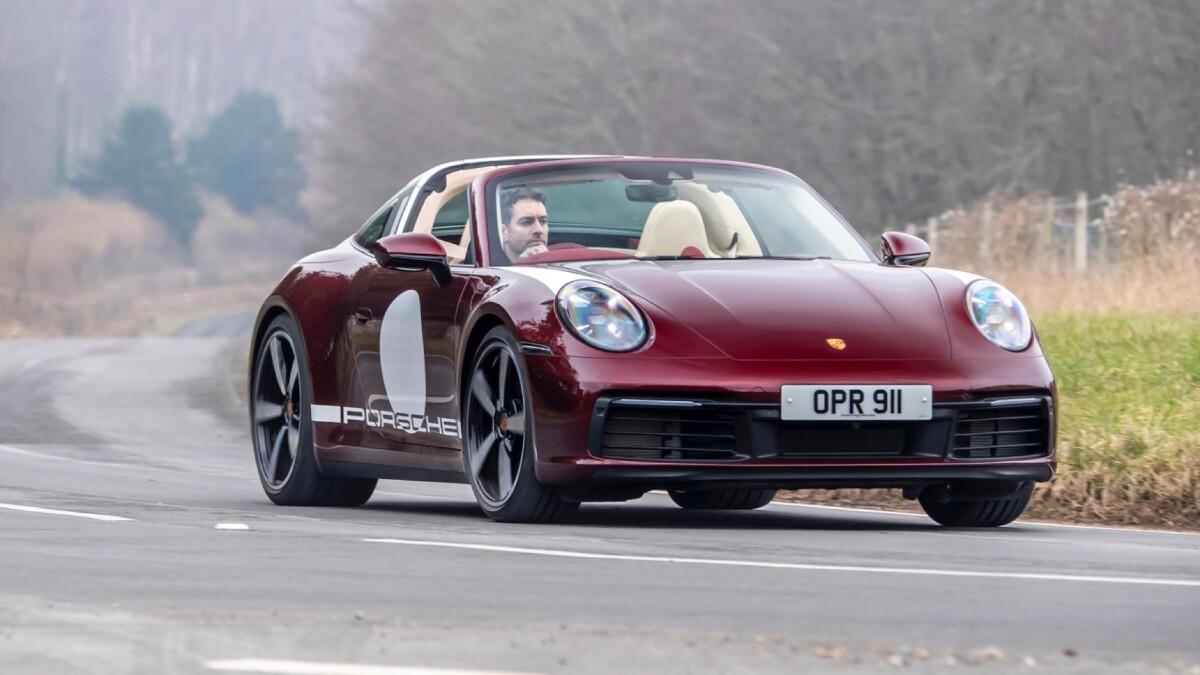 The Porsche 911 Targa 4S Front Angled View