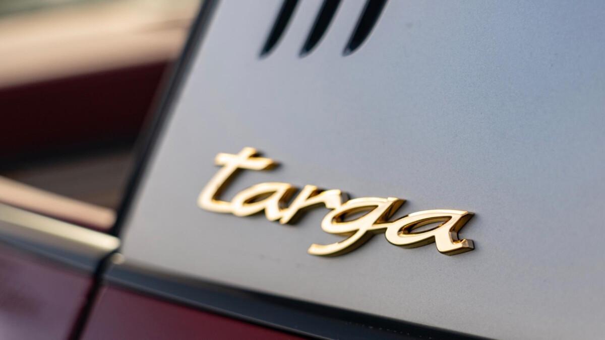 The Porsche 911 Targa 4S Emblem