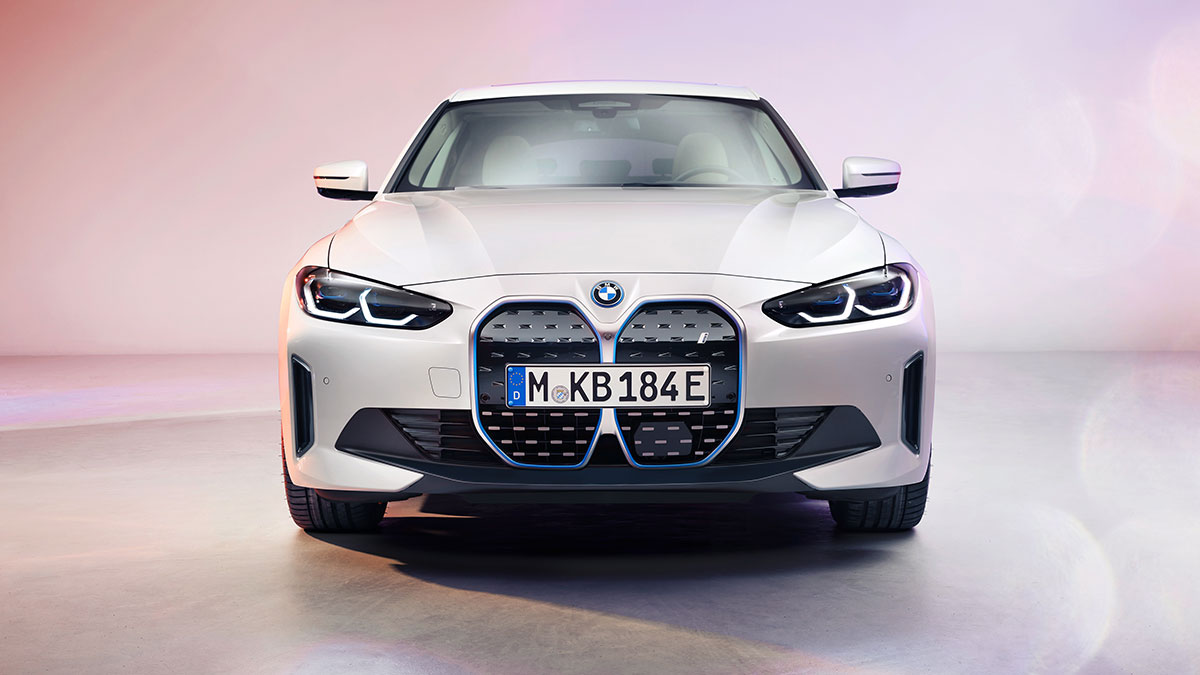 The 2022 BMW i4 Gran Coupe Front
