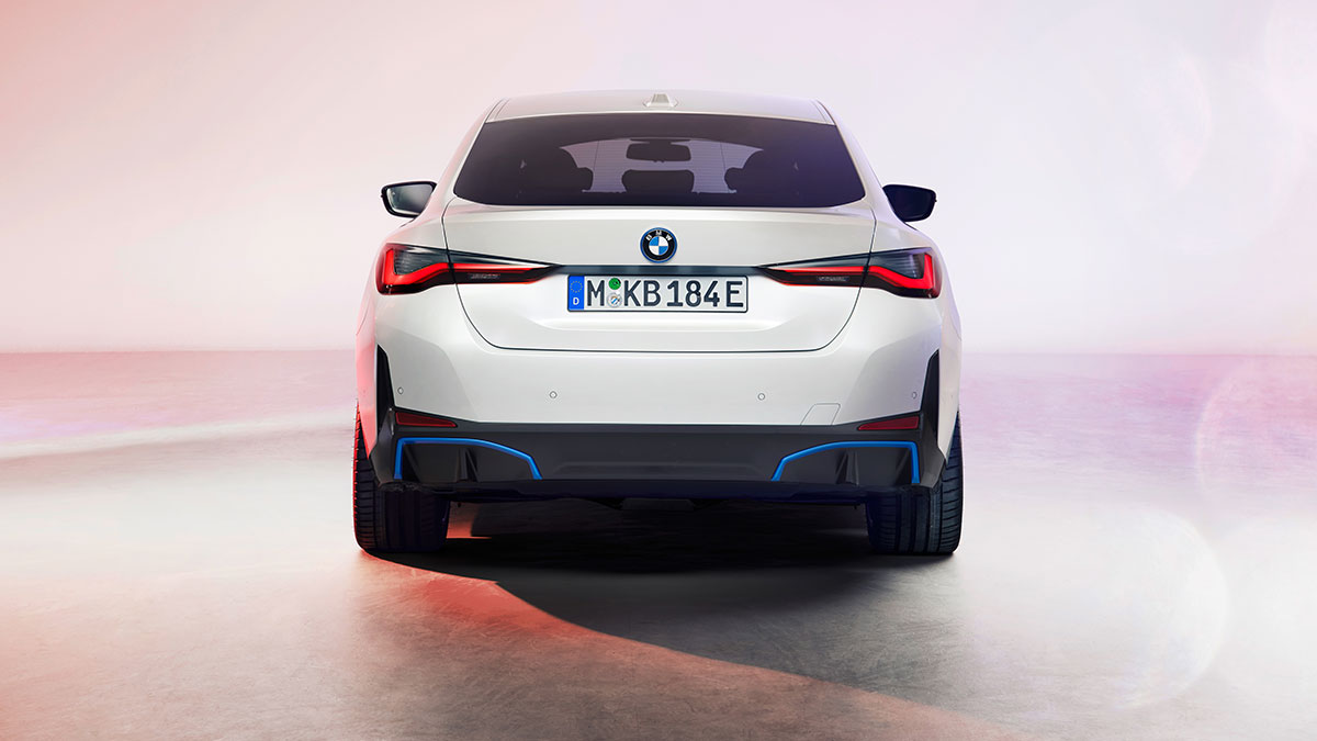 The 2022 BMW i4 Gran Coupe Rear