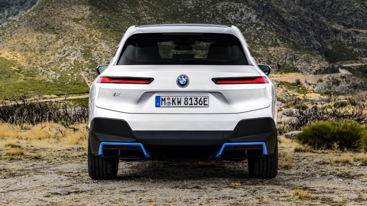 The BMW iX Rear View