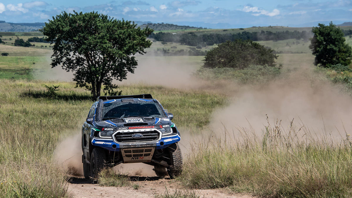 This FIA-spec Ford Ranger on Rough Roads