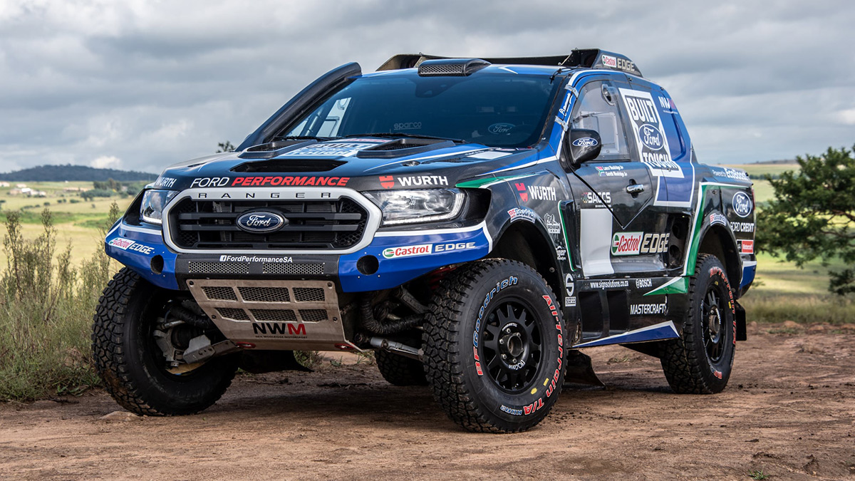 This FIA-spec Ford Ranger in the outdoors