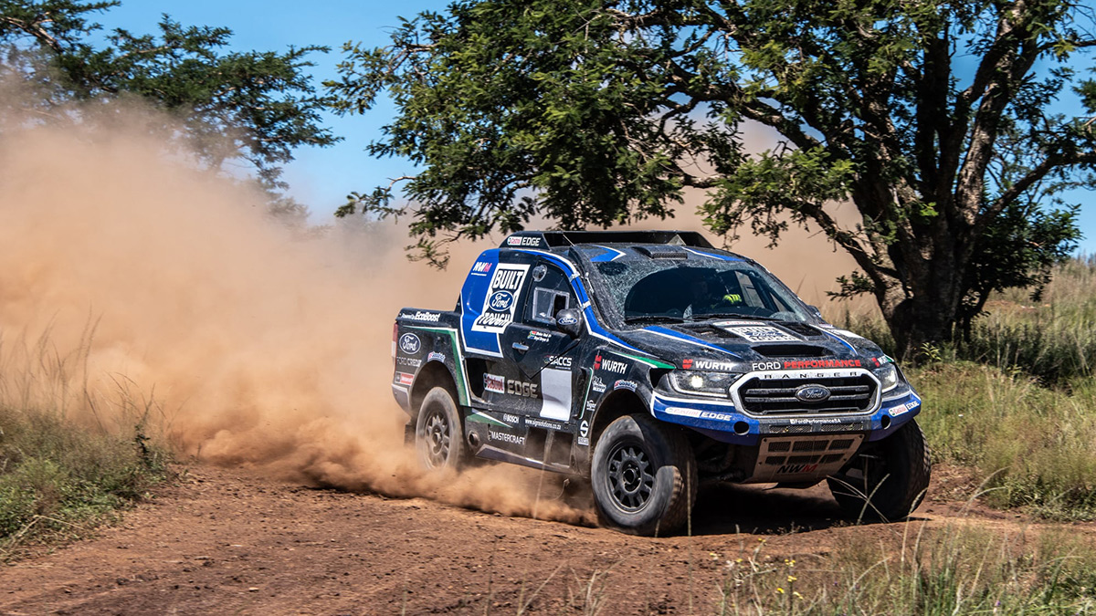 This FIA-spec Ford Ranger Creating a Cloud of Dust