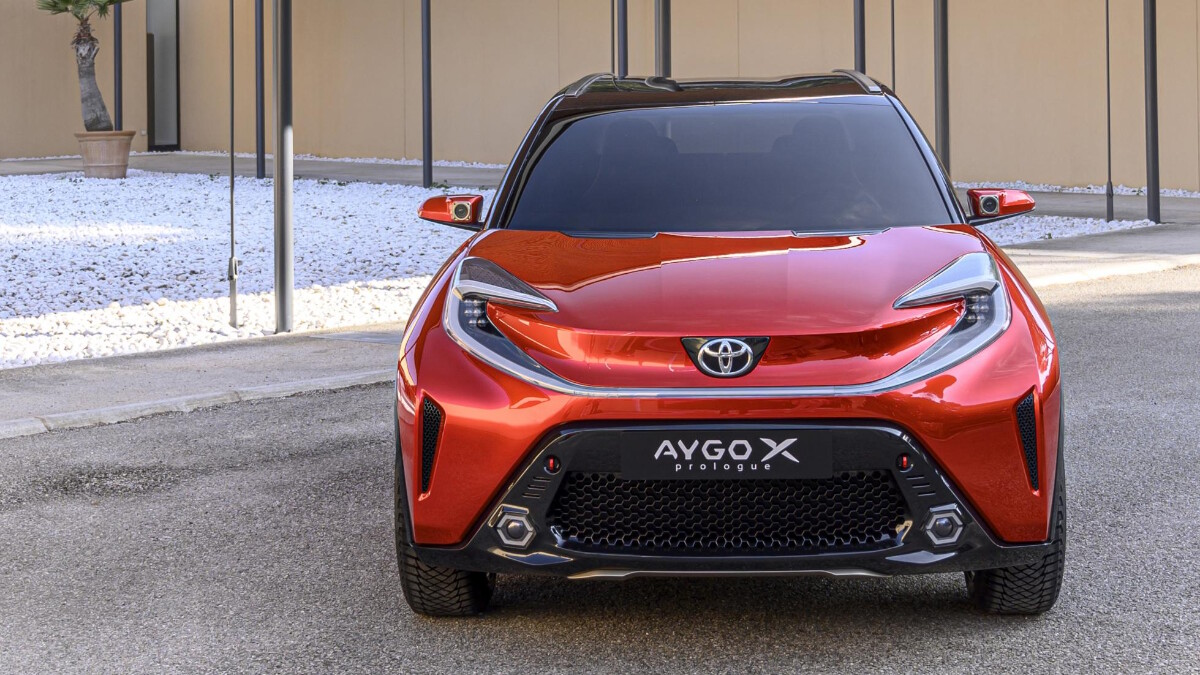 The Toyota Aygo X Front View